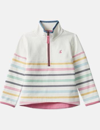 Navy Stripe Floral Joules Marlston Overhead Printed Sweat
