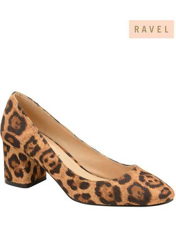 c969ac1ab6 Leopard Print Leather Block Heel Court Shoe from Next