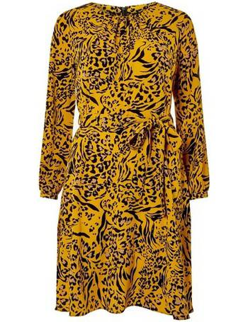 32b791667d4e06 Womens Multi Coloured Animal Print Long Sleeve Skater Dress- Multi Colour  from Dorothy Perkins