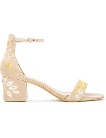 15f1645266 Hanoi Embroidered Low Block Heel Sandal from KOI Footwear