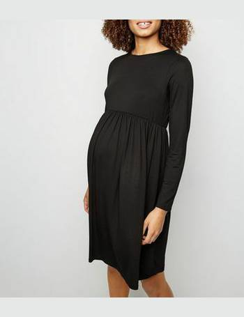 d9e5b86da713a Maternity Black Long Sleeve Smock Dress New Look from New Look