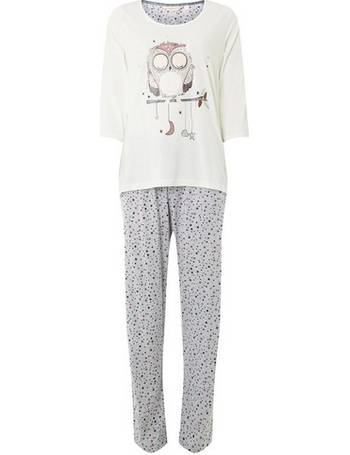 Womens Grey Furry Owl Pyjamas- Beige from Dorothy Perkins d8aadab99