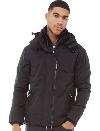 7ebb082726189 Mens Pop Zip Hooded Arctic SD-Windcheater Jacket Black/Dark Grey Marl from  Mandm