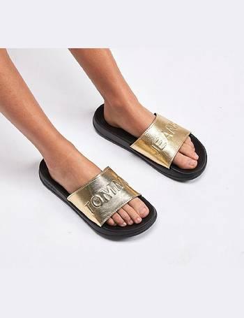 Shop Women s Tommy Hilfiger Slide Sandals up to 50% Off  5e6be2ac51