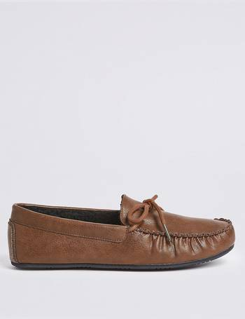 a965c8a8bfc Moccasin Slippers with Freshfeet from Marks   Spencer