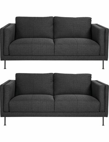 Tremendous Hugo Pair Of Fabric 3 Seater Sofas Download Free Architecture Designs Terstmadebymaigaardcom