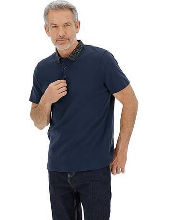 Mens Premier Man Ribbed Hem Polo Shirt JD Williams