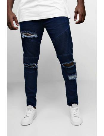 2857366206b0b Big & Tall Skinny Fit Ripped Biker Jeans from boohooMan