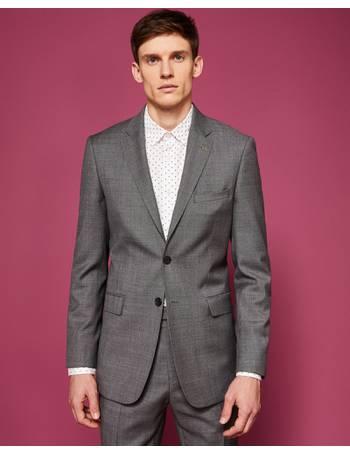ec2efd032925 Debonair plain wool suit jacket Grey from Ted Baker