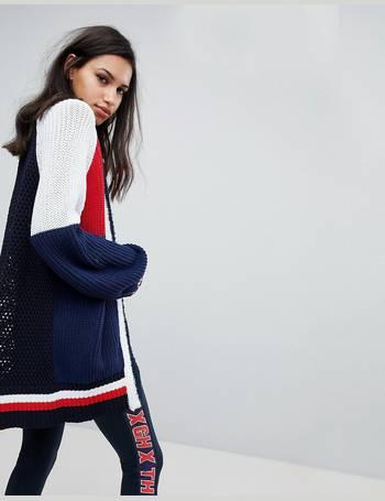 99057cde0 Tommy Hilfiger. Gigi Hadid Colour Block Cricket Cardigan With Zip