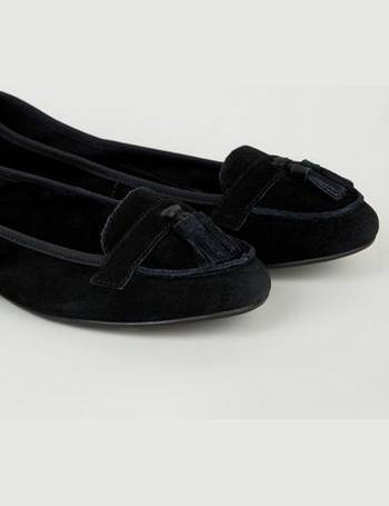 000a4682f61 Wide Fit Black Suede Elasticated Loafers New Look from New Look
