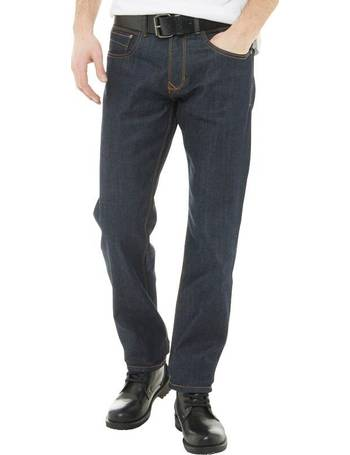 ae5eaab1 Onfire. Mens Rinse Wash Straight Fit Stretch Jeans With Belt ...