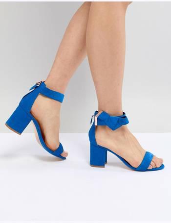 e1ec86bb0 Ted Baker. Kerrias Blue Suede Cobalt Block Heel Sandal