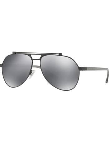 506aaa50d4b2 Dolce   Gabbana Dg2189 61 Gunmetal Pilot Sunglasses from Sunglass Hut Uk