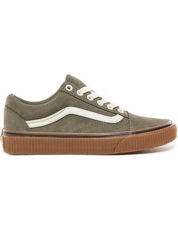 766a354c61e9 Vans. Suede Old Skool Shoes ((suede) Dusty Olive embossed Gum) Men Green