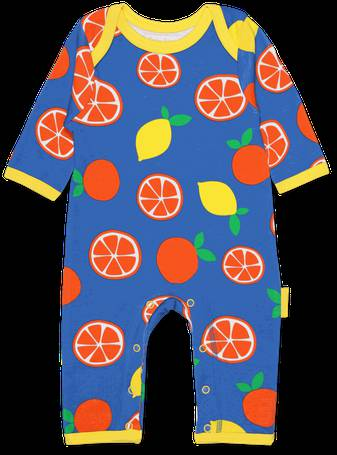 15ffa4c96 Organic Oranges and Lemons Print Sleepsuit from Toby Tiger