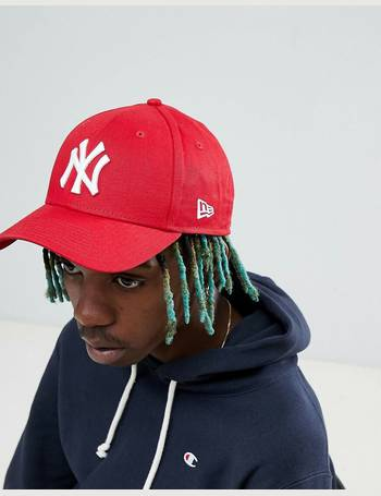 b4230c131bb new era. 9forty NY adjustable cap in red. from ASOS