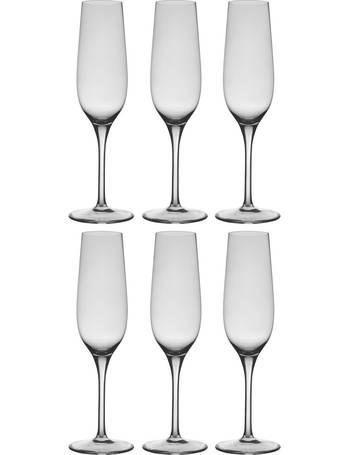 Buy Habitat Joy Set of 6 Champagne Flutes | Drinking glasses