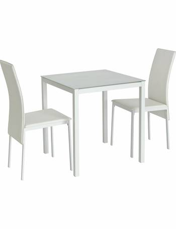 5de8bd86b78c Hygena Lido Glass Dining Table   2 Chairs from Argos