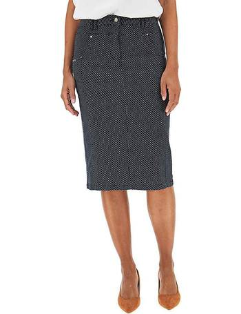 Womens Check Jacquard Pencil Skirt Simply Be
