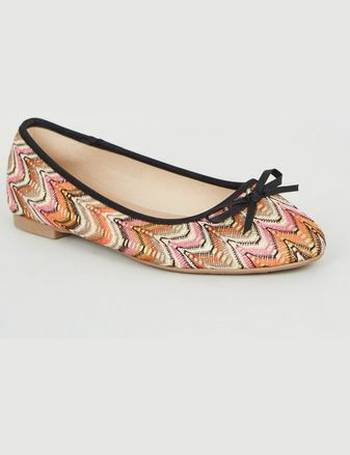5bfba7c8e8 Wide Fit Multicoloured Woven Ballet Pumps New Look from New Look