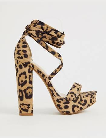 2987085275a Leonie leopard ankle tie platform sandals