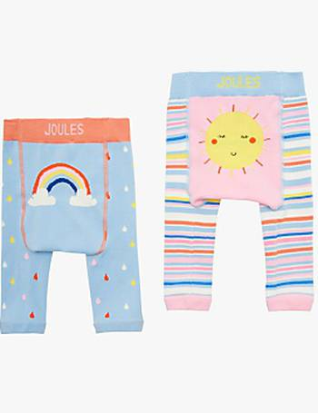 4f91a7b1066814 Little Joules Baby Lively Legs Sun and Rainbow Leggings from John Lewis