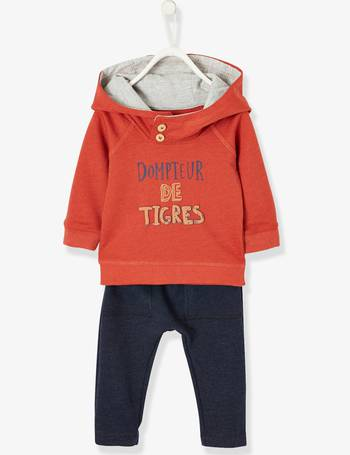 5c4c076726899 2-Piece Outfit in Fleece for Baby Boys from Vertbaudet