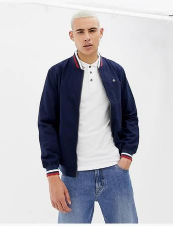 2adb9ba93 Contrast Collar Harrington Jacket