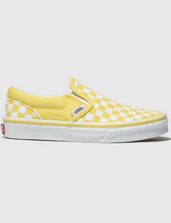 7e44d15bde7170 White   Yellow Classic Slip-on Trainers Junior from Schuh