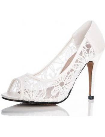 quiz white lace shoes