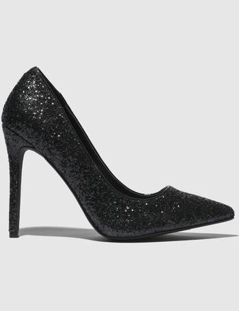9ab81db3ecf9 Black Full Glitter Court High Heels from Schuh