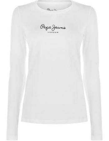 SoulCal Womens Nav Long Sleeve T Shirt Ladies Scoop Neck Top Blouse T-Shirt