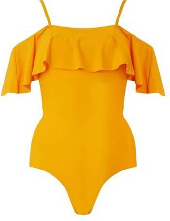 ece0d52ac2 Womens Dp Beach Yellow Bardot Swimsuit- Orange from Dorothy Perkins
