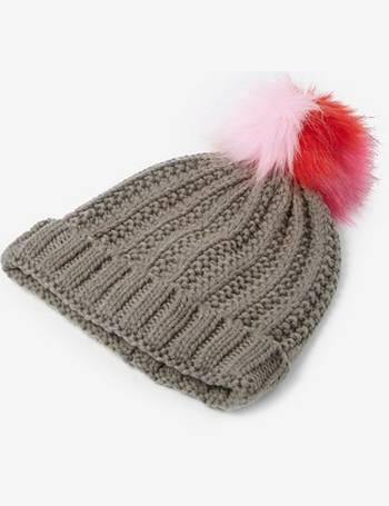 5e203ce315b Womens Grey Polylana Pom Pom Hat- Grey from Dorothy Perkins