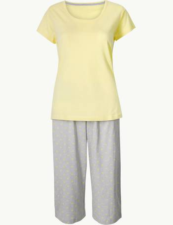 f80536f0426 Pure Cotton Star Cropped Pyjama Set from Marks   Spencer