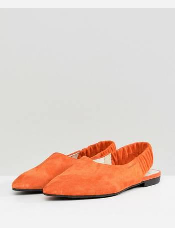 ef951cc2241 Vagabond. Katlin Orange Suede Sling Back Pointed Flat Shoes
