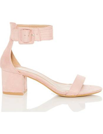 3d5eb4cfd32 Pink Faux Suede Buckle Low Heels from Quiz Clothing