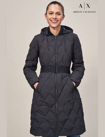 e4bdc59d0 Womens Long Line Down Quilted Jacket Black X-LARGE