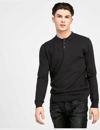 Ciro Long Sleeved Knitted Polo Shirt from Footasylum 1198b11cb