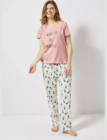 entire collection hot-selling fashion top-rated cheap Womens Pink 'Woke Up In Paradise' Pyjama Set- Pink