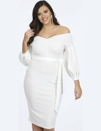 c349912765 Gino Ivory V-Neck Long Sleeve Midi Dress from Pink Clove