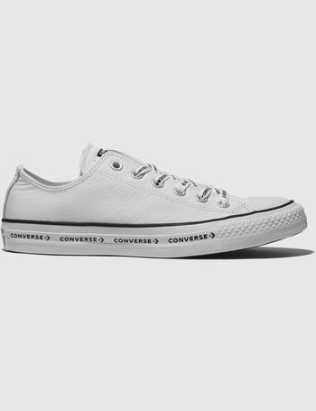 dae125d7c031 White   Black All Star Ox Logo Laces Leather Trainers from Schuh