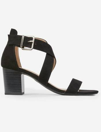 77e980ca7 Womens Wide Fit Black  Shore  Heeled Sandals- Black from Dorothy Perkins