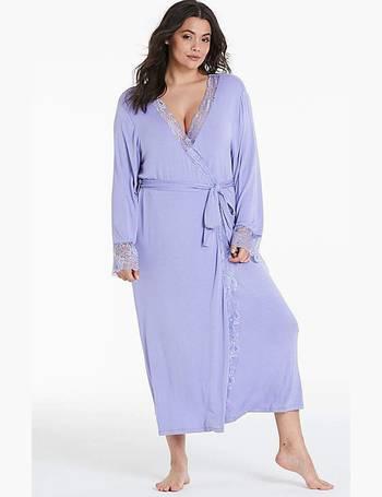 Womens Pretty Secrets Ella Lace Robe Simply Be