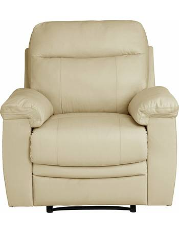 Paolo Leather Mix Manual Recliner Chair