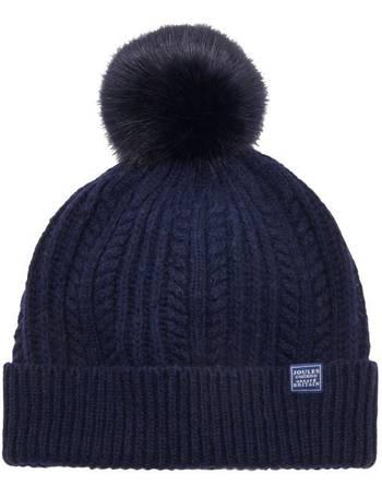 a21efeae8 Fine Cable Hat With Faux Fur Pom