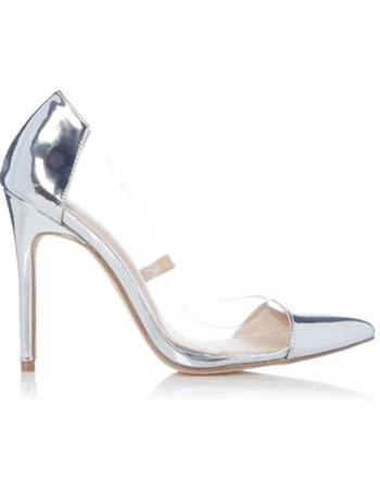 c8747dbccf1 Womens Head Over Heels By Dune Silver 'Anii' Ladies High Heel Shoes- Silver