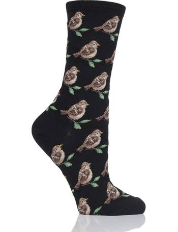 76298a25fd158 Ladies 1 Pair HotSox Birds Cotton Socks from Sock Shop