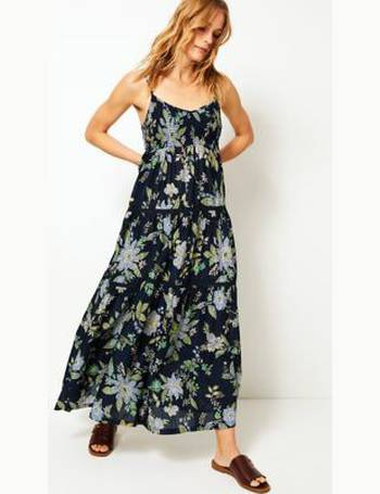 db64425146189 Pure Cotton Floral Print Midi Swing Dress from Marks & Spencer
